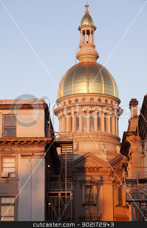 Trenton - State Capitol Building stock photo, Trenton, New Jersey -  State Capitol Building at sunrise. by Henryk Sadura