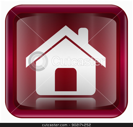 home icon dark red, isolated on white background stock photo, home icon dark red, isolated on white background by Andrey Zyk