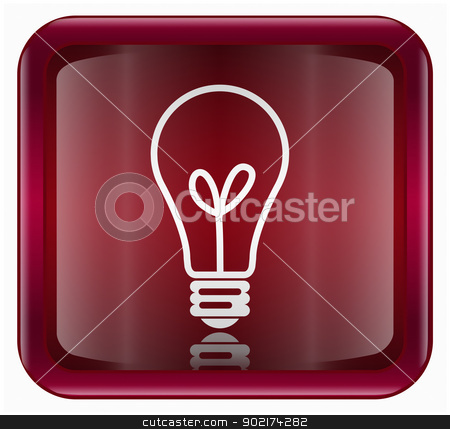 lightbulb Icon dark red, isolated on white background stock photo, lightbulb Icon dark red, isolated on white background by Andrey Zyk