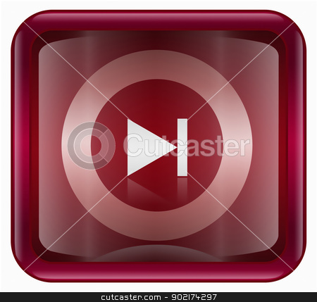 Rewind Forward icon dark red, isolated on white background stock photo, Rewind Forward icon dark red, isolated on white background by Andrey Zyk