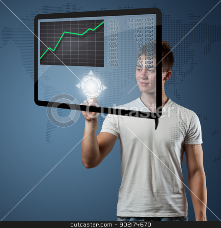 Digital concept stock photo, Digital concept, high tech panel  by Grafvision