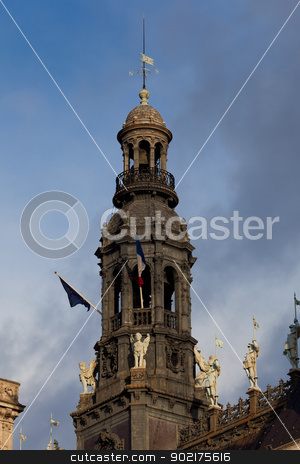 Tower of the city council, Paris, France stock photo, Tower of the city council, Paris, France by B.F.