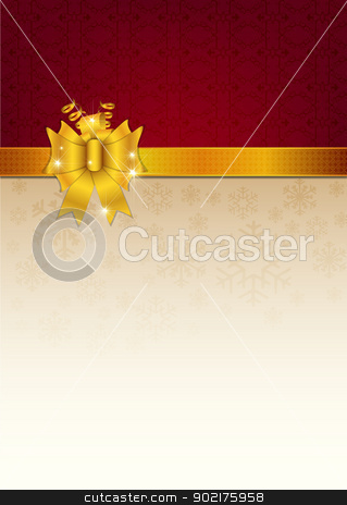 Abstract golden ribbon and vector background stock vector clipart, Abstract golden ribbon and vector background by muammer başer