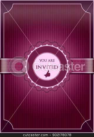 Purple  abstract invitation stock vector clipart,  by muammer başer