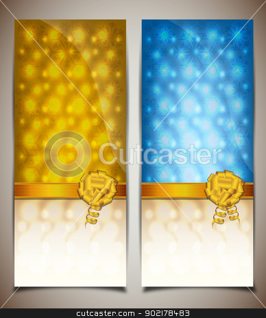 Blue and yellow gift card stock vector clipart, Blue and yellow gift card by muammer baer