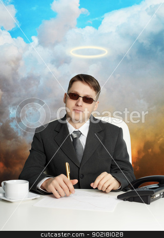 Government official - almost a god stock photo, A government official in the service - almost a god by Alexey Romanov