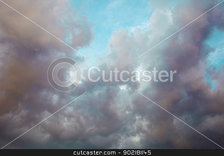 Cloudy sky before storm stock photo, The cloudy summer sky before the storm by Alexey Romanov
