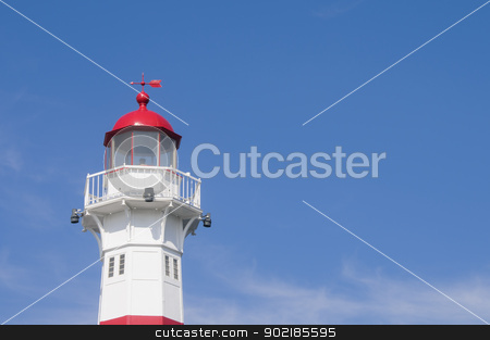 Lighthouse in Malmo, Sweden stock photo, A red and white lightouse in the harbor of Malmo, Sweden by Alessandro Rizzolli