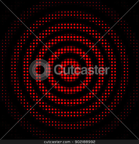 Abstract dots circles stock photo, Abstract circles background with dots fantasy by Dario Rota
