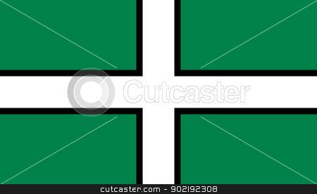 Devon Flag stock photo, Flag of the English county of Devon. by Martin Crowdy