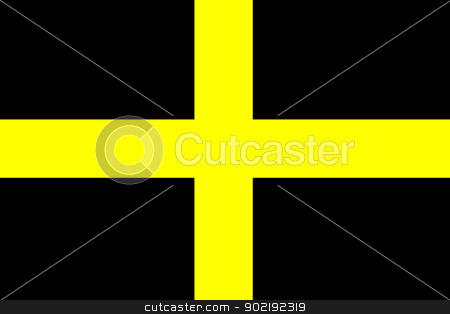 Flag of Saint David in Wales stock photo, Illustration of Flag of Saint David, Wales. by Martin Crowdy