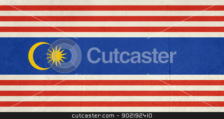 Kuala Lumpar city flag stock photo, Grunge illustration of Kuala Lumpar city flag, Indonesia. by Martin Crowdy