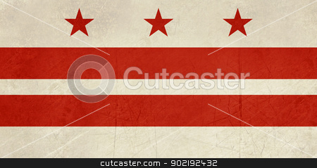 Washington D.C City flag stock photo, Grunge illustration of Washington D.C City flag, America. by Martin Crowdy