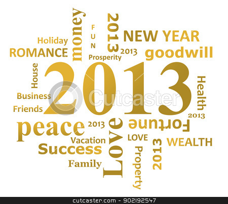 Year 2013 infographic stock photo, Year 2013 infographic isolated on white background. by Martin Crowdy