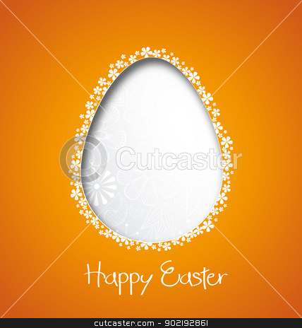 Easter stock vector clipart, easter background with egg vector illustration by Miroslava Hlavacova