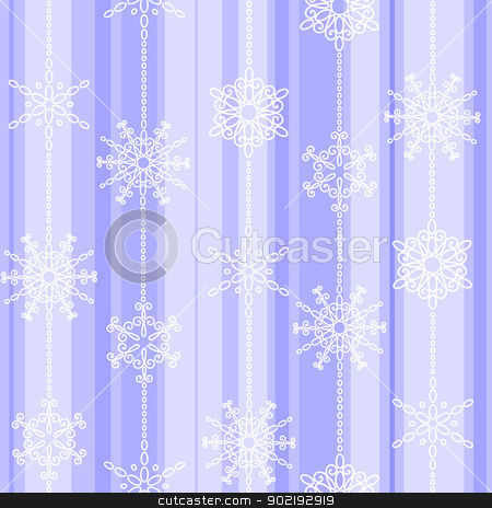 Flake winter seamless pattern stock vector clipart, Light frosty winter vertical seamless pattern with snowflakes by Allaya