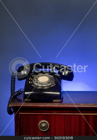 Rotary Telephone. stock photo, Old style telephone with room for your type. by WScott