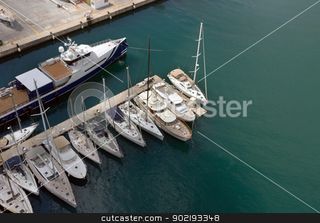 sailboats stock photo, Sailboats at Port Vell, Barcelona.Spain. by Vladyslav Danilin