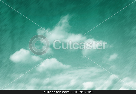 Emerald tinged sky stock photo, Emerald tinged sky background, grungy texture by Dutourdumonde