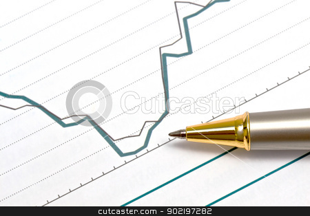 Background of business graph  stock photo, Background of business graph   by Ingvar Bjork