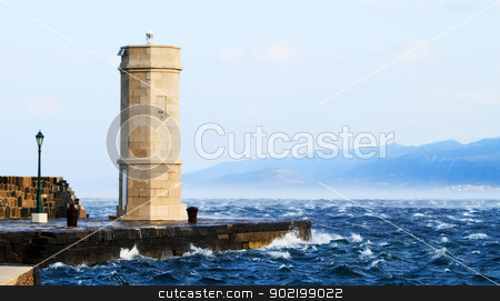 Picture represents the lighthouse while blowing strong wind stock photo, Picture represents the lighthouse while blowing strong wind. Croatia-Senj by Nneirda