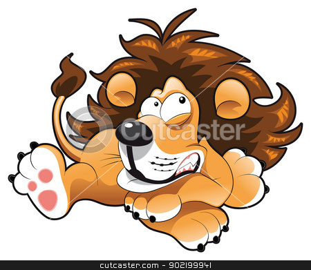 Baby lion Baby lion stock vector clipart, Baby lion. Funny cartoon and vector character by ddraw