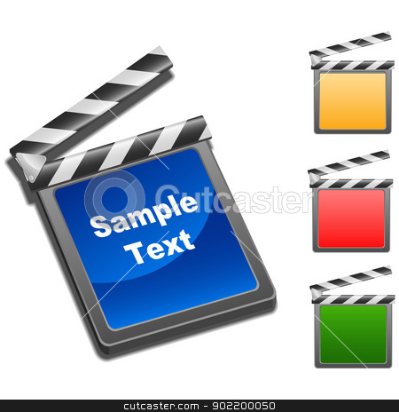 Movie Clap stock vector clipart, Layered vector illustration of Movie Clap with different color. by Liu Yin