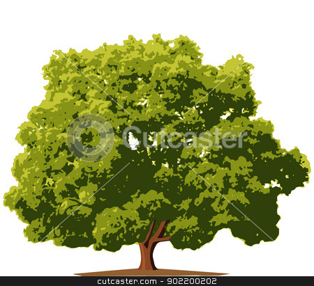 Tree stock vector clipart, Layered vector illustration of isolated Tree. by Liu Yin