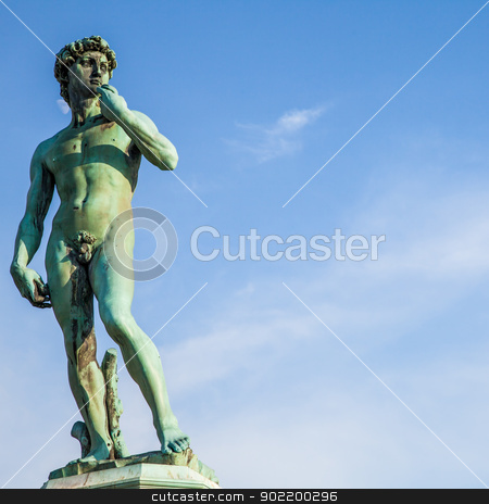 Michelangelo's David stock photo, Copy of Michelangelo's David in Piazzale Michelangelo, Florence, Italy by Perseomedusa