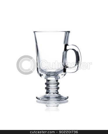 Coctail glass set. Irish coffee on white stock photo, Irish coffee glass isolated on white background by Alexander Tarasov