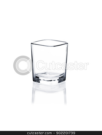 Coctail glass set. Vodka shot on white stock photo, Empty vodka shot isolated on white background by Alexander Tarasov