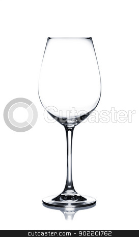 Coctail glass set. White wine on white stock photo, Empty white wine glass isolated on white background by Alexander Tarasov