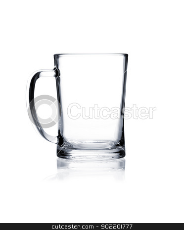 Coctail glass set. Beer mug on white stock photo, Empty beer mug isolated on white background by Alexander Tarasov