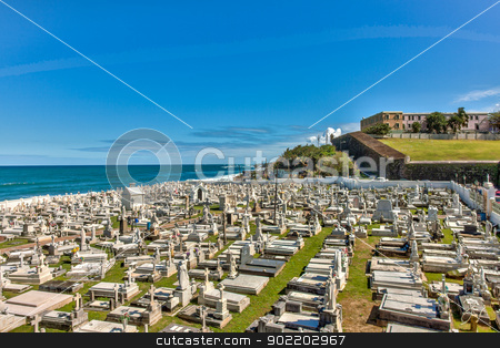 Graveyard in Old San Juan stock photo, Graveyard in Old San Juan, Puerto Rico by Gary Ives