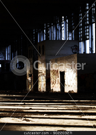 Old architecture stock photo, Old architecture. Destruction building.  by Nneirda
