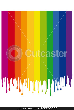 colorful painting drops, vector stock vector clipart, colorful paint background with drops, vector by Beata Kraus