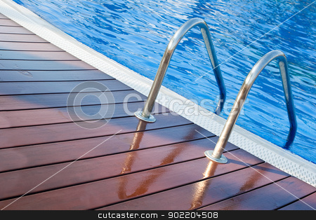 swimming pool stock photo, Close up image of swimming pool by carloscastilla