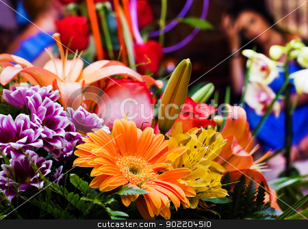 bunch of flowers stock photo, Close up image of bunch of flowers by carloscastilla