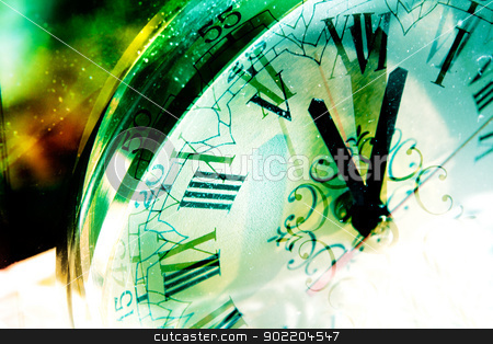 Time concept stock photo, Time concept background and old clock by carloscastilla