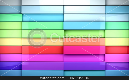 colorful tiles background stock photo, 3d abstract colorful tiles background by carloscastilla