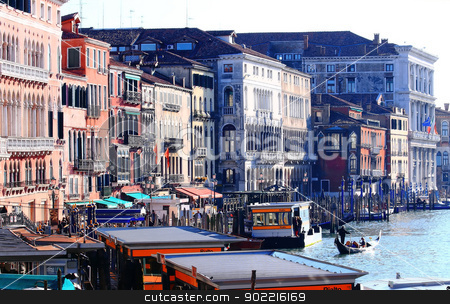 Venice stock photo, Venice from Railto Bridge, Grand Canal by Vichaya Kiatying-Angsulee