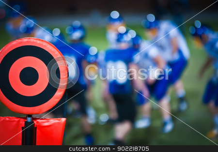 football sideline marker stock photo, football sideline marker by alex grichenko