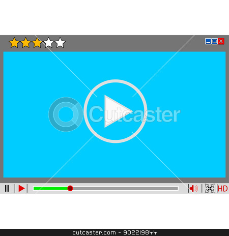 Video movie media player interface.  stock photo, Video movie media player interface. Vector  illustrations. by aarrows