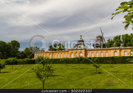 South facade of Sanssouci Picture Gallery in Potsdam, Germany stock photo, South facade of Sanssouci Picture Gallery in Potsdam, Germany by Andrey Starostin
