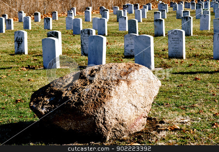 Cemetery military headstones stock photo, Cemetery military headstones by Liane Harrold