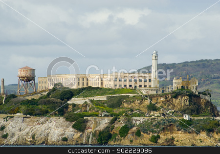 Alcatraz Island stock photo, alcatraz prison island, one of the most recognisable islands in san francisco bay by Stephen Gibson