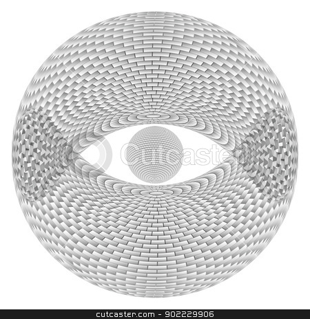 Eye Sphere stock photo, Eye Sphere.  Illustration on white background  for design by dvarg