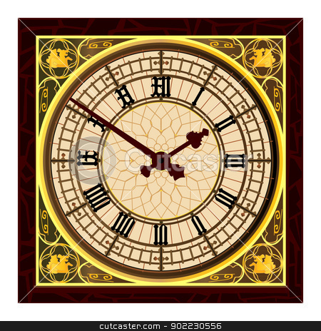 Big Ben Clock Face stock vector clipart, The clock face of the London icon Big Ben. by Kotto