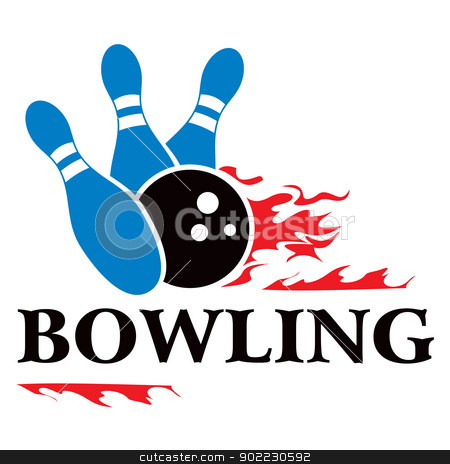 Bowling symbol stock vector clipart, Design with bowling symbol isolated on white by Oxygen64
