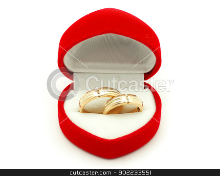 wedding rings stock photo, wedding ring on white background by Vitaliy Pakhnyushchyy
